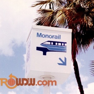 Monorail Sign at TTC