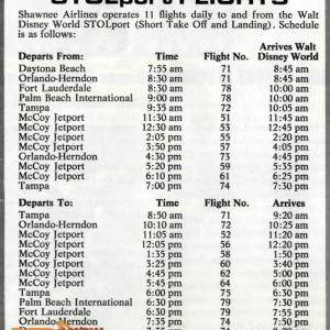 STOL Port Schedule