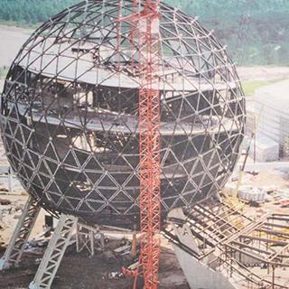 Photos of Walt Disney World under construction.