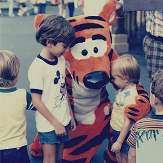 Personal pictures from vacations to Walt Disney WOrld in the 1970s and 1980s.