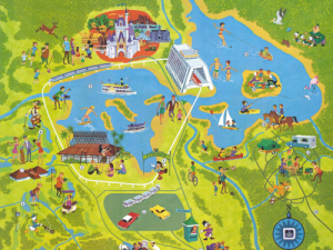 1973 WDW Map - The First Decade in Maps