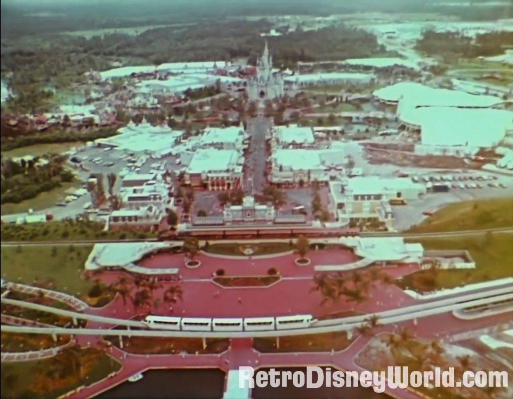 The Magic Kingdom At Walt Disney World 1974 Aerial Of Mk Retrowdw