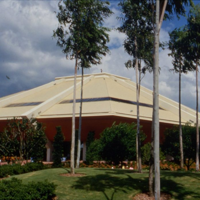 Enjoy the sounds of EPCOT Center's long-closed Horizons attraction