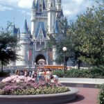 The Hub and Cinderella Castle circa 1973