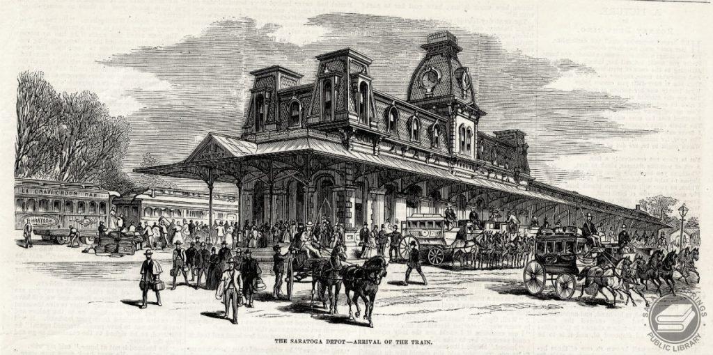 Saratoga Springs Grand Train Station - Inspiration for the Magic Kingdom's Station