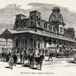 Saratoga Springs Grand Train Station - Inspiration for the Magic Kingdom's Station