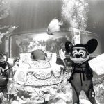 Mickey helps celebrate WDW's 15th anniversary at The Living Seas in EPCOT Center (1986)