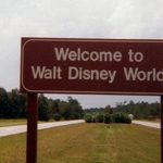 The original Welcome to Walt Disney World brown roadside sign