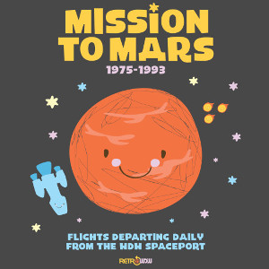 Retro Disney World Tomorrowland Mission to Mars T-shirt Design