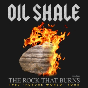RetroWDW Oil Shale - The Rock That Burns - T-shirt Design