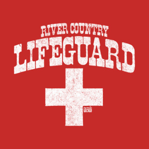 RetroWDW River Country Lifeguard T-shirt Design