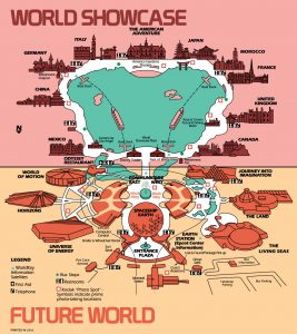 EPCOT Center guide map circa 1986-87