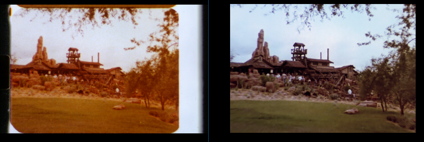 Big Thunder Mountain souvenir film restoration comparison