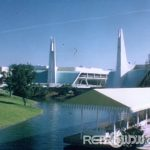 November 1971 MK Restored Film - Tomorrowland Entrance seen from hub