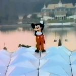 Mickey Mouse of top of Spaceship Earth in EPCOT Center