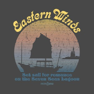 Eastern Winds Chinese Junk Polynesian Village Resort T-shirt Design