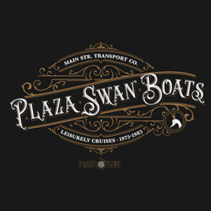 RetroWDW Plaza Swan Boats T-shirt Design