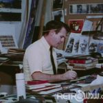 Imagineer working on the Hall of Presidents - from the restored Project Florida Film