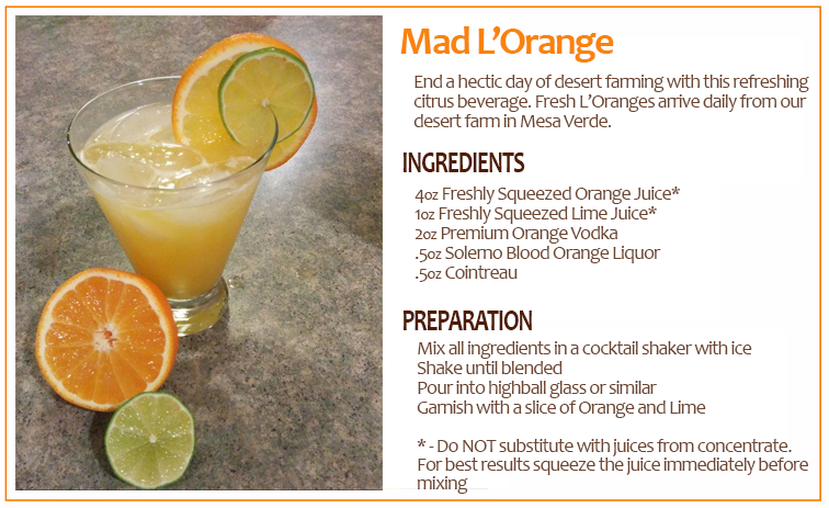 Horizons (EPCOT) Mad L'Orange Drink Recipe
