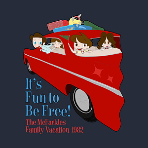 RetroWDW McFarkles - It's Fun To Be Free T-shirt Design