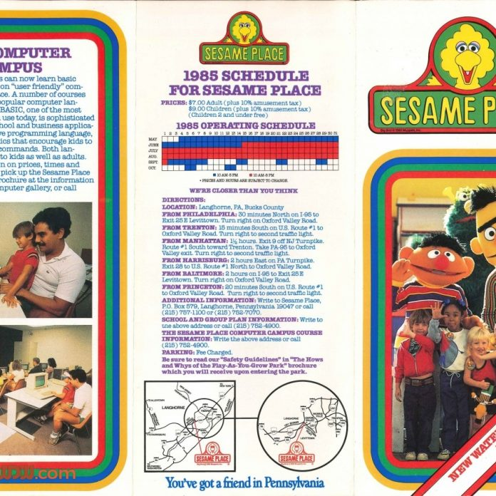 The World Is Not Enough: Sesame Place 1985 Brochure