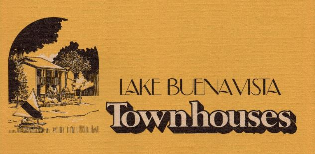 Lake Buena Vista Townhomes Brochure (1972)