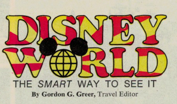 Better Homes and Gardens – WDW Article from April 1972